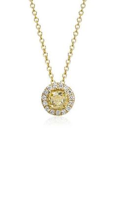 Yellow Diamond Halo Pendant | Click for your chance to win a $1000 gift card from #BlueNile!