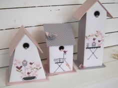 One of these under a cloche for Spring would be pretty. Cute Crafts, Diy Crafts, Decoupage, Papier Diy, Creation Crafts, Bird Houses Diy, Cross Stitch Finishing, Phineas And Ferb, Altered Boxes