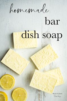 Homemade Bar Dish Soap : Heart's Content Farmhouse Homemade Bar Dish Soap : Heart's Content Farmhouse<br> A homemade bar soap that leaves dishes sparkling clean. Homemade Dish Soap, Homemade Bar, Homemade Shampoo, Homemade Conditioner, Hair Conditioner, Shampoo Bar, Diy Shampoo, Cleaners Homemade, Diy Cleaning Products