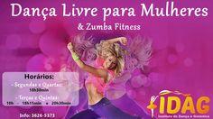 Nossos horários de Dança Livre par Mulheres e Dança/Zumba no #IDAG Venha Dançar com a gente! Profissional Credenciado ao CREF.  #DançaGuarapuava #dança #Guarapuava #baléGuarapuava #DanceFitness #dance #susanaFávaro #SusanaFavaro
