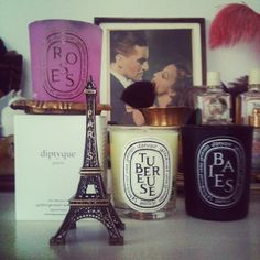 diptyque candles and eiffeltower