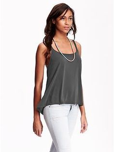 Womens Sueded Tanks