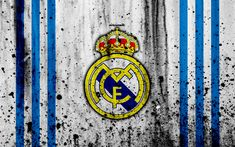 Download wallpapers Real Madrid, 4k, Galacticos, grunge, La Liga, white background, soccer, football club, LaLiga, Real Madrid FC