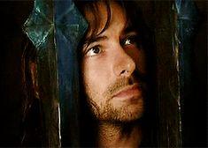 Gifs of Aidan Turner as Kili being completely cute in the Mirkwood Elves' jail.