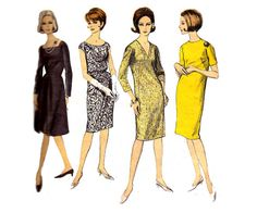 60s Shift Dress Pattern Vogue Basic Design by allthepreciousthings