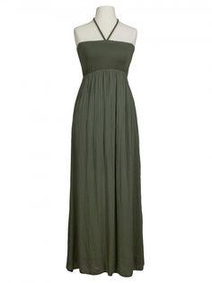 Damen Bandeau Kleid mit Seide, oliv von Diana bei www.meinkleidchen.de