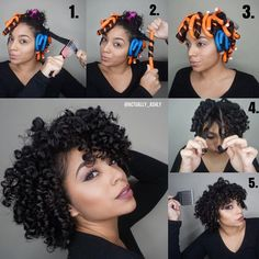"""Ashly on Instagram: """"Step by Step of my Flexi Rod Set Started on wet hair. 1. Apply #Sleek Leave In, #Slayed Styling Lotion, and Brush through hair to make sure it's smooth to roll on rod. 2. Roll Hair Onto Rod (Twist & Roll Method) 3. Let Hair Dry 4. Unravel Rods. Apply #Shine Oil to Hands and Separate Each Section 5. Fluff Roots with Hair Pick Until You Reach Your Desired Volume. And Lay down edges with #Laid Edge Control. Full tutorial on youtube: actuallyashly"""