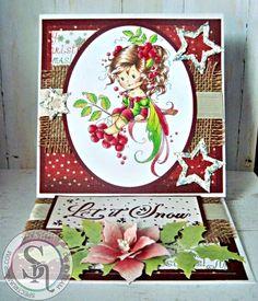 Dream Laine: So cute Rowan Fairy! #spectrumnoir #crafterscompanion #weestamps #festive #christmas #handmade #markers.