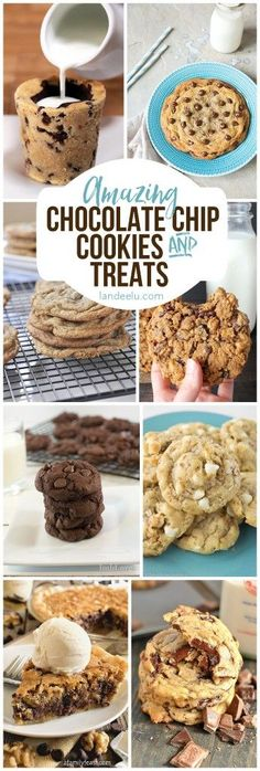 The very BEST CHOCOLATE CHIP COOKIES Recipes {and other yummy chocolate chip treats!}  My favorite!