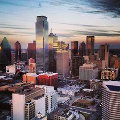 Dallas Texas Skyline Sunset