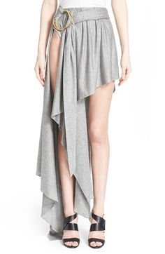 Anthony Vaccarello Asymmetrical Silk Skirt