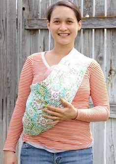 DIY Baby Sling... Looks easy!
