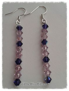 Swarovski Bead Earrings - The Supermums Craft Fair