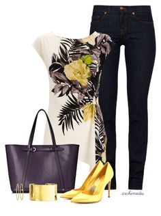 """""""Tropical Prints"""" by archimedes16 ❤ liked on Polyvore featuring J Brand, Wallis, L.K.Bennett, Gianvito Rossi, Brooks Brothers, women's clothing, women, female, woman and misses"""