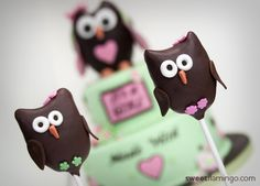 Sweet #Owl #Cake Pops - We love and had to share! Great #CakeDecorating! sweetflamingo