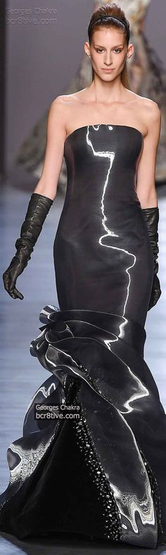 Liquid Charcoal Georges Chakra Fall Winter 2014-15 Haute Couture Collection