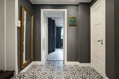 grey walls tiles and mirror Decor, House, Home Projects, Interior, Home Garden Design, Grey Wall Tiles, Apartment Design, Home Decor, Interior Design