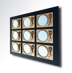 Hand sculpted gold Technics wall and mirror art