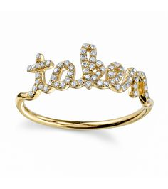 How awesome is this 'taken' ring?!