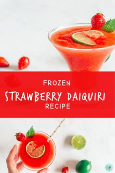How to make An easy home made Strawberry daiquiri or summer cocktails this frozen easy frozen cocktail is perfect for a refreshing drink on a hot day #extraordinarychaos #homemadecocktails #frozencocktail Mango Daiquiri, Frozen Daiquiri, Frozen Cocktails, Summer Cocktails, Easy Frozen Strawberry Daiquiri Recipe, Cocktails To Make At Home, Best Cocktail Recipes, Bbc Good Food Recipes, Frozen Strawberries