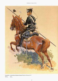 German; 2nd Leib Hussar Regiment Koningen Viktoria von Preussen. Unteroffizier c.1900. Raised 1741. Home Depot Danzig. XVII Army Corps