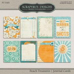 Beach Treasures | Journal Cards :: Journal Cards :: Project 365 :: Memory Scraps