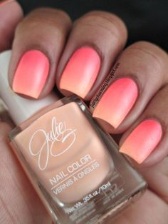 This is such a cute nail look I've been trying to get an ombré with a nude polish but It never worked
