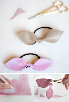 quick and easy gift idea! DIY hair ties with bows