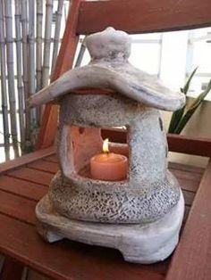 Lampara japonesa en ceramica