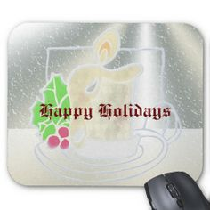 Icy Window Christmas Candle Happy Holidays Mouse Pads. http://www.zazzle.com/icy_window_christmas_candle_happy_holidays-144628127681623633?rf=238575087705003771