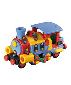 Take a look at this Large Train Car Construction Kit by Mic-O-Mic on #zulily today! $25 !!