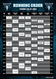 Running Order Wacken Open Air 2015 - Freitag W:O:A