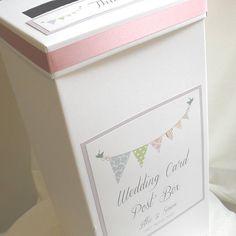 Personalised Bunting Wedding Post Box