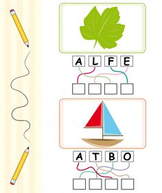 The words Leaf and Boat sit scrambled on a page with pictures. This activity sheet is perfect for spellers who are just First Grade Homework, Word Games For Kids, School Cartoon, 1st Grade Worksheets, Pre Writing, Activity Sheets, Sight Words, Spelling, Boat