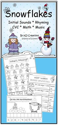 It's snowing a blizzard of great activities for your winter classroom!