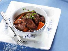 Viikonlopun lihapata - Reseptit Pot Roast, Food And Drink, Beef, Ethnic Recipes, Koti, Drinks, Carne Asada, Meat, Beverages
