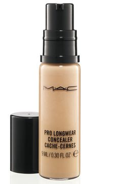 MAC Pro Longwear Concealer  perfect for medium to full coverage under the eyes and for redness around the nose and blemishes.