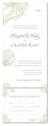 Beach Wedding Invitations ~ Sea Shell