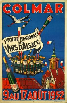 A History Of The Alsace Wine Region Vintage Advertising Postersvintage