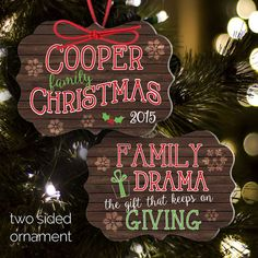 family christmas ornament, yearly ornament, annual family ornament, family ornament - TWO SIDED FDCO Family Christmas Ornaments, Family Ornament, Christmas Hearts, Babies First Christmas, Christmas Ideas, Photo Ornaments, Ornaments Design, Wood Ornaments, How To Make Ornaments