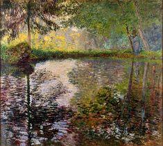 """""""Claude Monet (1840-1926), Pond at Montgeron, 1876. oil on canvas, 173 x 194 cm """""""