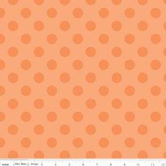 Medium Tone on Tone Dots in Orange