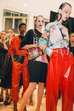 Behind-the-scenes at Kenzo during Paris Fashion Week. Photographed by Driely S.