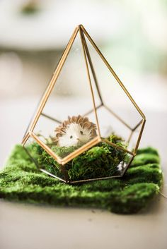 Wire woodland animal centerpiece from an Enchanted FOURest Birthday Party on Kara's Party Ideas | KarasPartyIdeas.com (44)