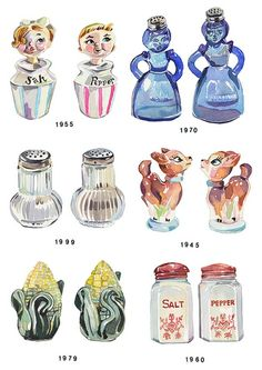 """""""Salt and Pepper Shakers"""" Graphic/Illustration by Holly Exley posters, art prints, canvas prints, greeting cards or gallery prints. Find more Graphic/Illustration art prints and posters in the ARTF. Watercolor Food, Watercolor Illustration, Watercolor Painting, Holly Exley, Pillos, Prop Design, Salt And Pepper Set, Food Illustrations, Illustration Styles"""