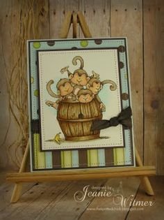 Barrel of monkeys birthday card