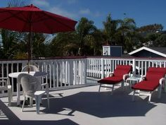 Sun Bathing in January.  Local B&B. www.pelican-cove.com