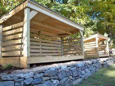 custom firewood shed