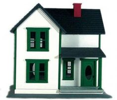 white with green trim | Farm House white with green trim