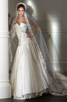 Italian designer wedding gown